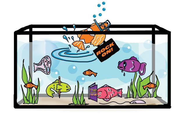 Fish tank illustration